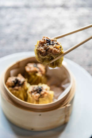 Chinese style fritters. Mediterranean food on the island of Majorca. Imagens