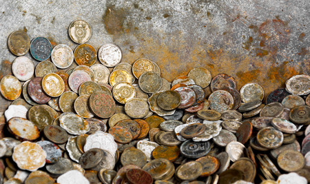 old coins: Old Coins Stock Photo
