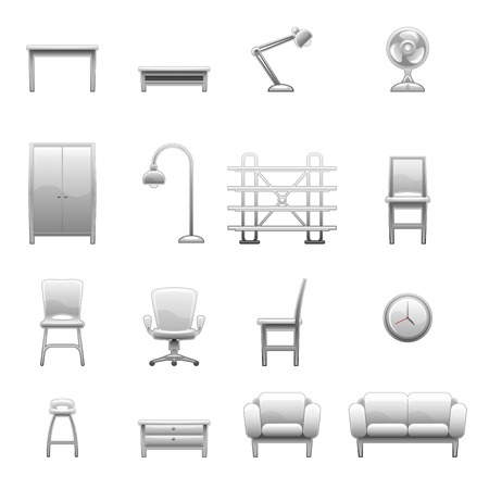 couches: furniture icon set Illustration
