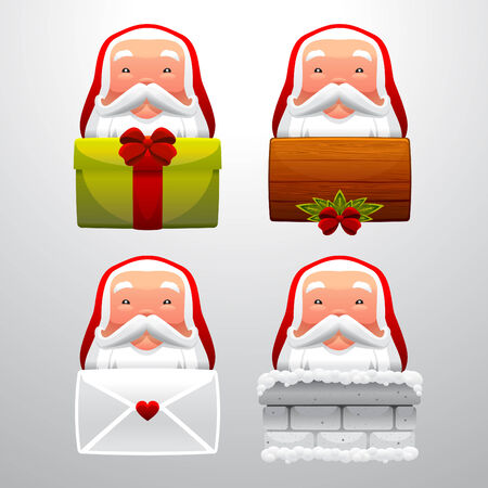 santa claus set  Stock Vector - 8058977