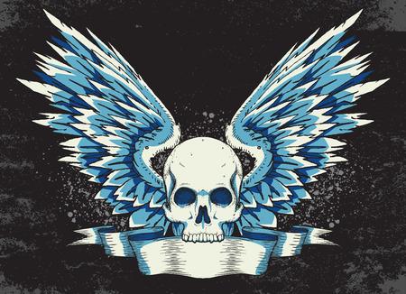 calavera: cr�neo con alas