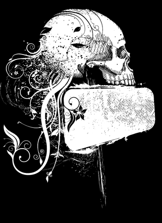 death metal: skull and frame
