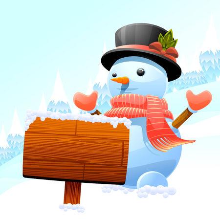 snowman character  Illustration