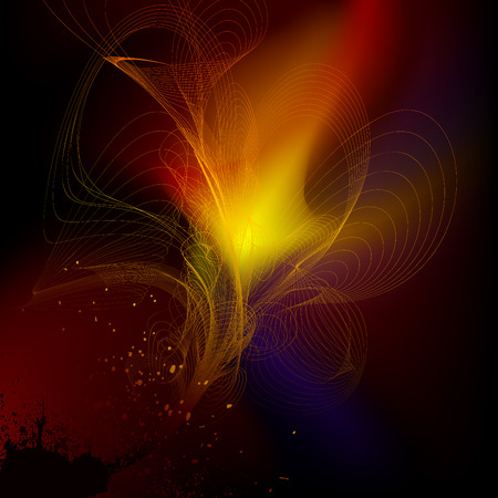 smother: abstract line background