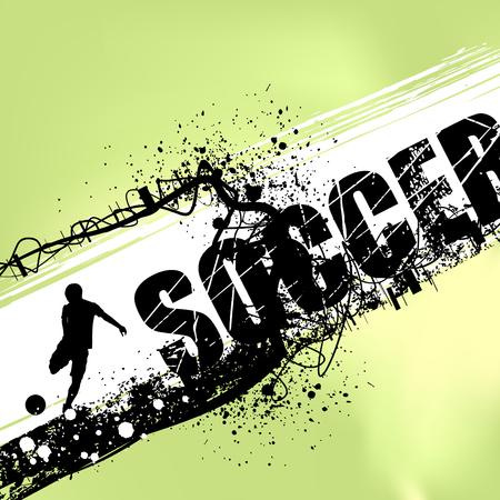 goal kick: soccer vector  Illustration