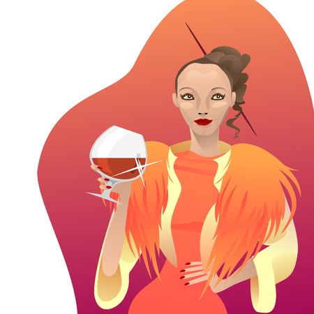 elegance party woman  Vector