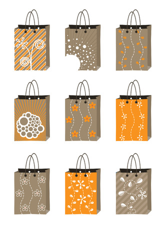set of shopping package  Vector