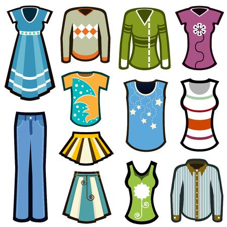 faldas: conjunto de ropa