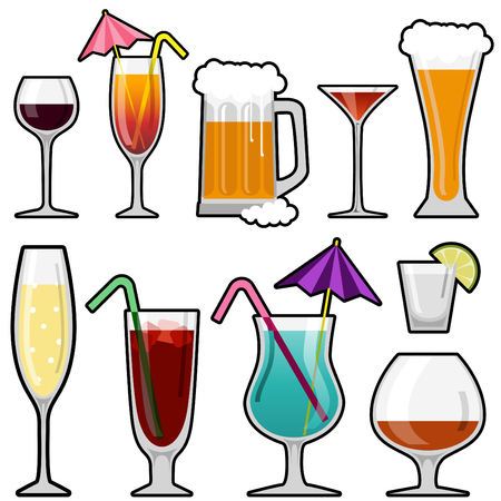 alcohol glass Stock Vector - 8129260