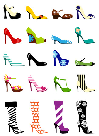 high heel: woman fashion  Illustration