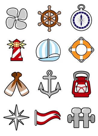 marine industry: nautical icon set  Illustration