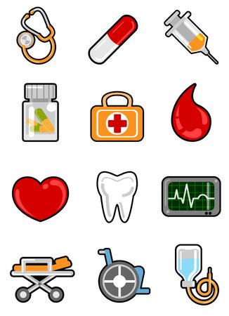 medical icon set Stock Vector - 8129219