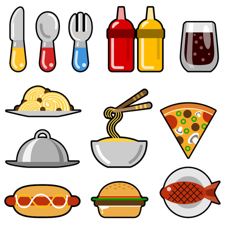 fast food icons Stock Vector - 8129249