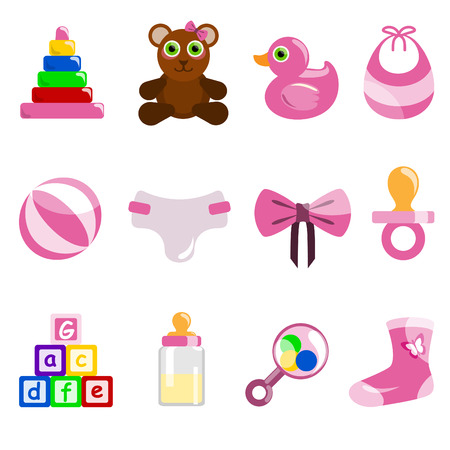 toy block: girl baby object