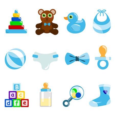toy ducks: objeto de beb� de ni�o  Vectores