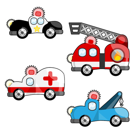 emergency vehicles Stock Vector - 8129267
