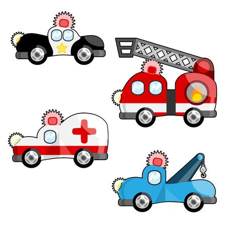 emergency light: emergency vehicles