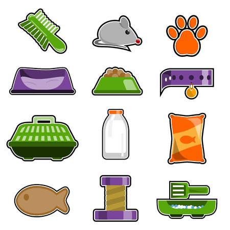 barrack: cat object icon set