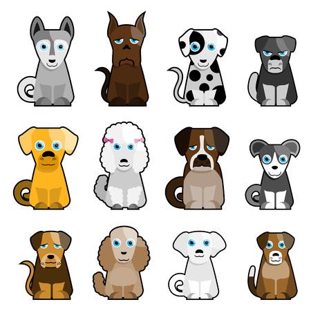 cat, dog, bird cartoon character Stock Vector - 8129266