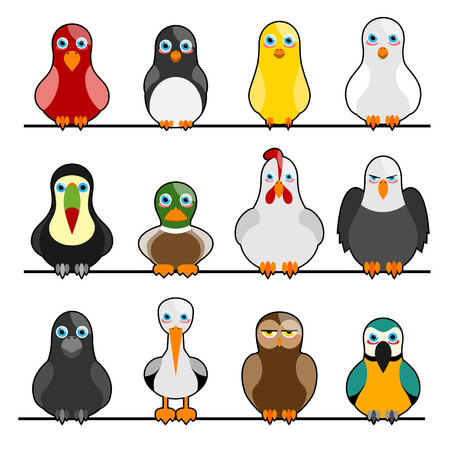 wing figure: cute birds