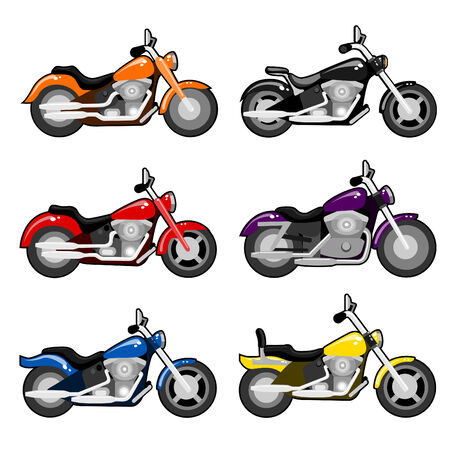 Motorcycle set Stock Vector - 8129263