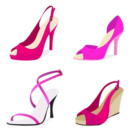 set of women shoes Stock Vector - 8188597