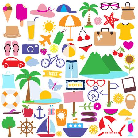 summer vacation: holiday icon