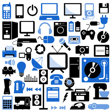 electronic icons Stock Vector - 8188603