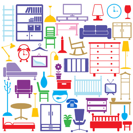 closets: furniture icons  Illustration