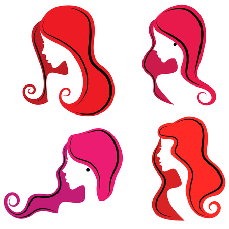 ginger hair: hair styles  Illustration