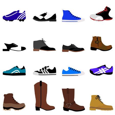 black shoe: man shoes set  Illustration
