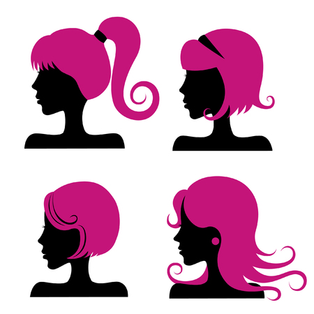 girl short hair: hair styles  Illustration