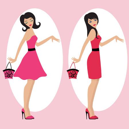 fashion girls  Stock Vector - 8188614