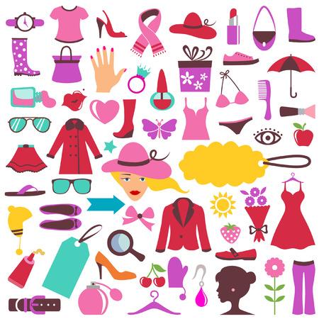 appendini: Icone di moda e bellezza  Vettoriali