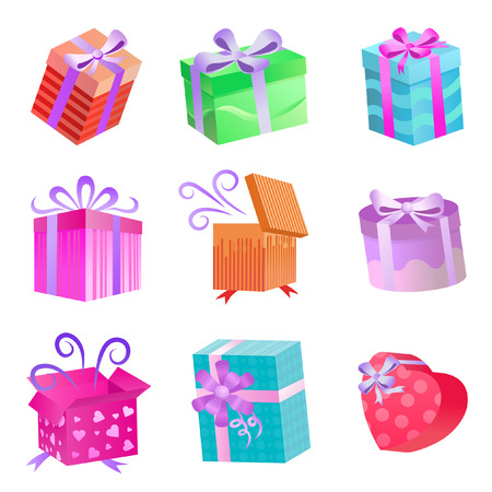 gift boxes set Stock Vector - 8188647