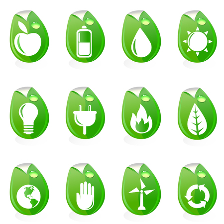 natural energy symbols  Vector