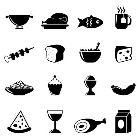 queso: iconos de bebida y comida  Vectores