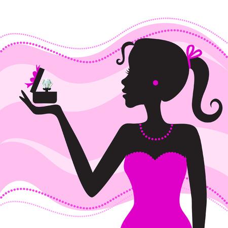 jewelry box: women with jewel