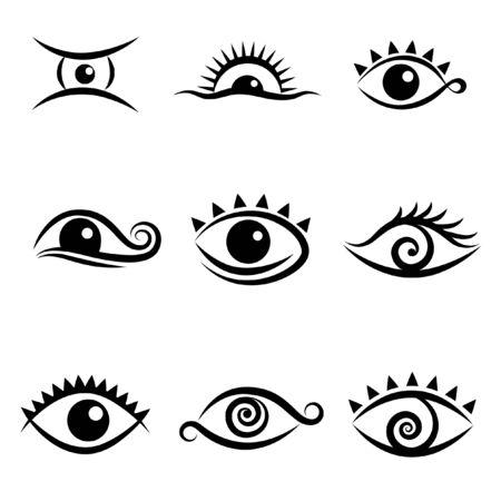 ojos verdes: iconos de ojo
