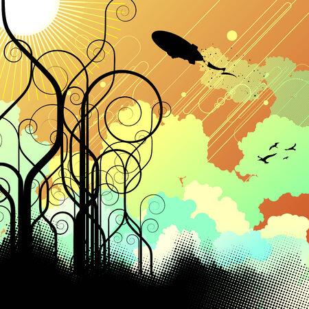 futurist: abstract background
