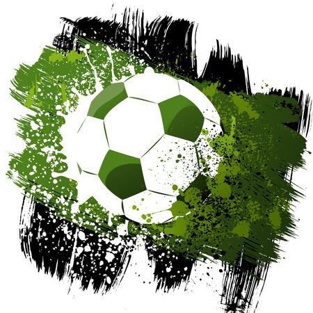 grunge football: ball vector