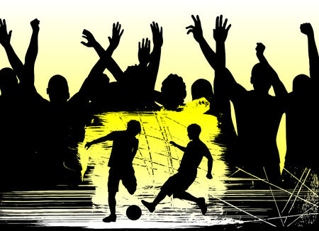fans and soccer  Vector