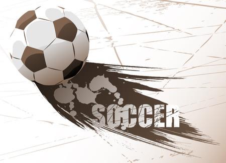 dirty football: soccer vector  Illustration