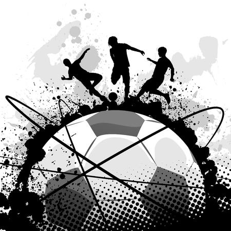 world player: vector de f�tbol de grunge