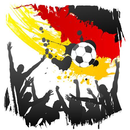 Allemagne de coupe du monde de vecteur