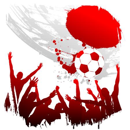 soccer kick: vector worldcup japan  Illustration