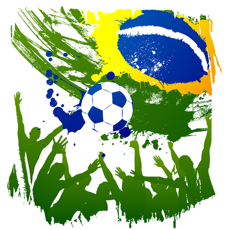 cups silhouette: vector worldcup brazil Illustration