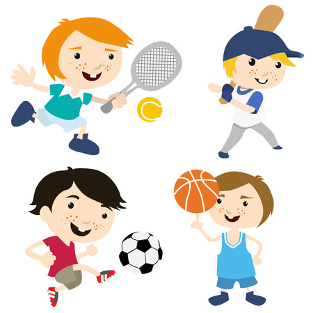 cartoon sport kids  Stock Vector - 8352776