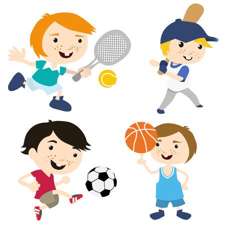 cartoon sport kids Stock Vector - 8352776