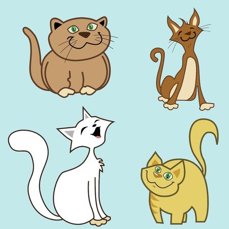 cartoon cats vector  Vector